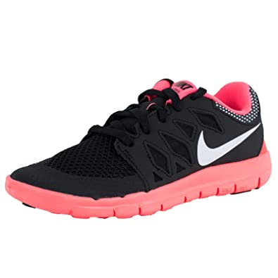 uk availability 13ea8 5b75a Amazon.com   Nike Girl s Free 5.0 Running Shoe Black Pink White Size 1.5 M  US   Running