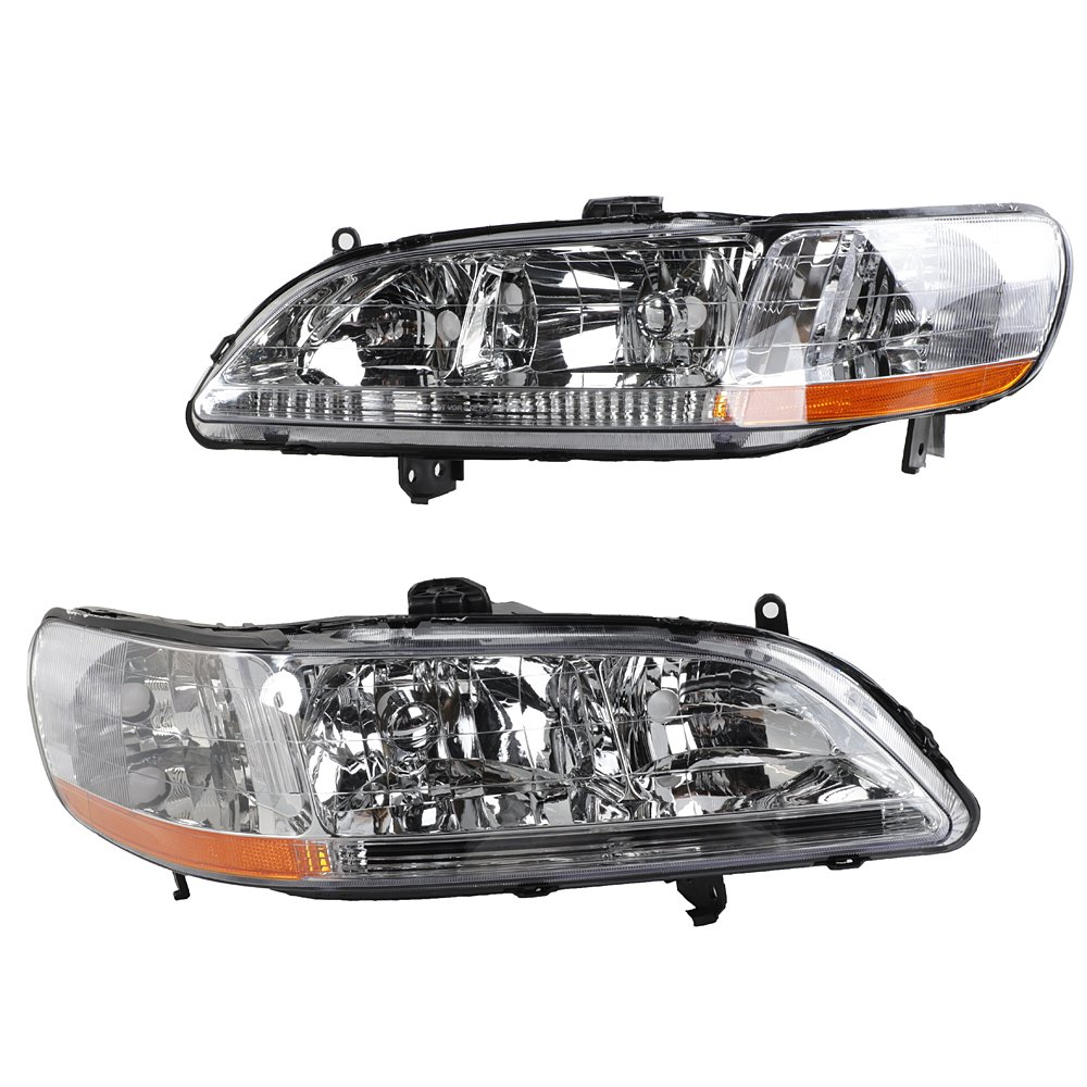 2pc Front Left Right Car Headlights Oe Style Replacement Headlamps 1999 Honda Accord Black Housing For 1998 2000 2001 2002