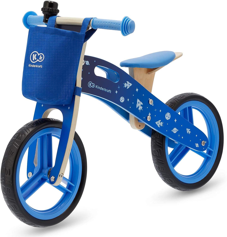 Kinderkraft Bicicleta sin Pedales RUNNER, Ligera, Ajustable, 3 Años y más, Azul