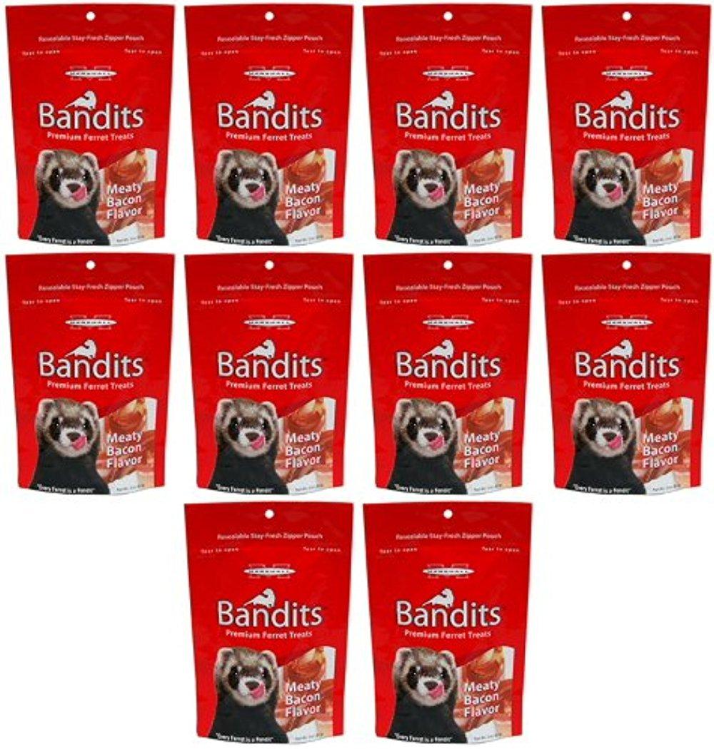 Marshall Bandits Ferret Treat Meaty Bacon 1.875lbs (10 x 3oz) by Marshall