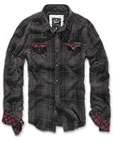 Brandit Men's Checkshirt Duncan Brown / Black
