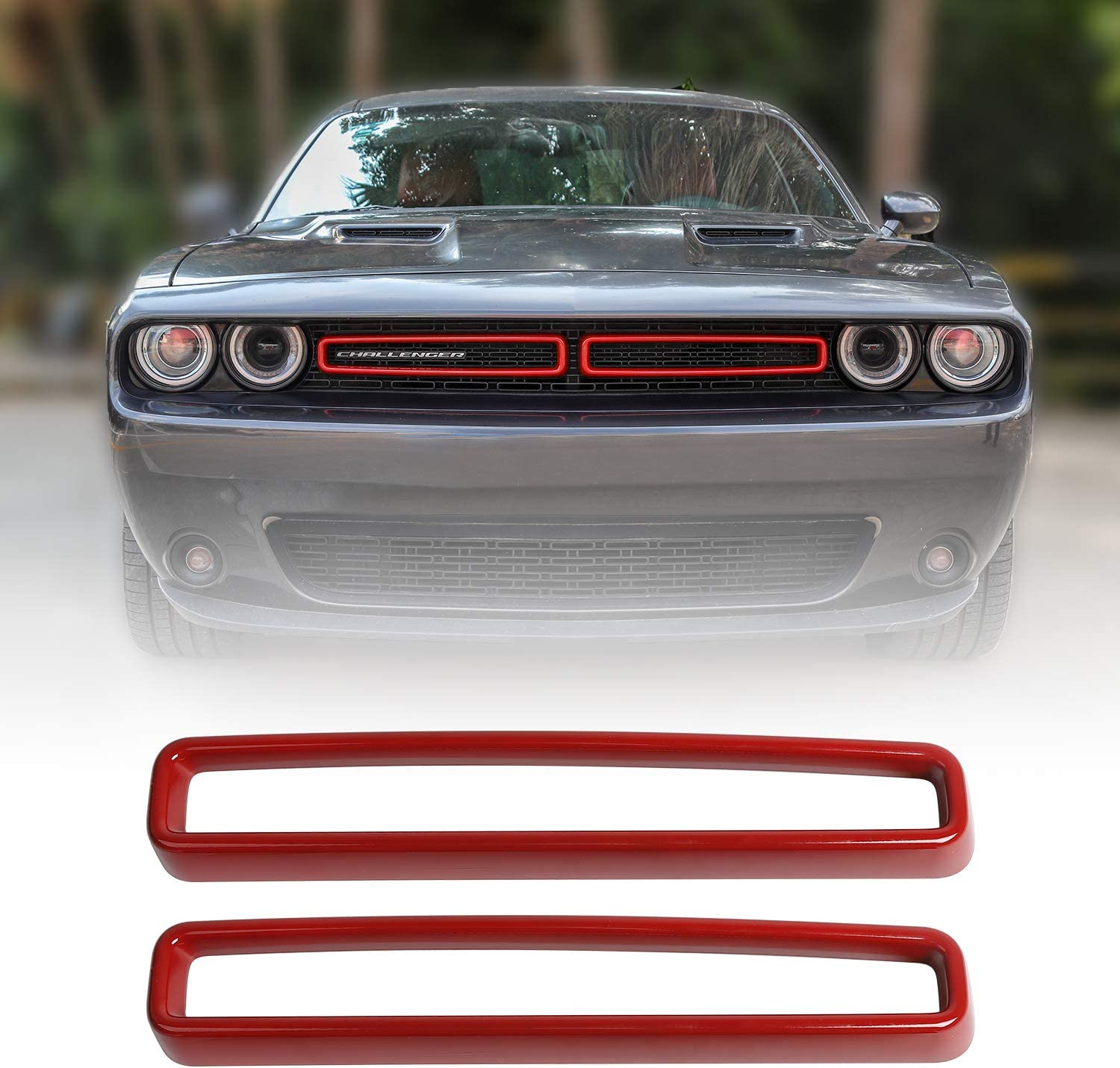 amazon com jecar grille inserts abs grill cover trim kit exterior accessories for 2015 2019 dodge challenger red automotive jecar grille inserts abs grill cover trim kit exterior accessories for 2015 2019 dodge challenger red
