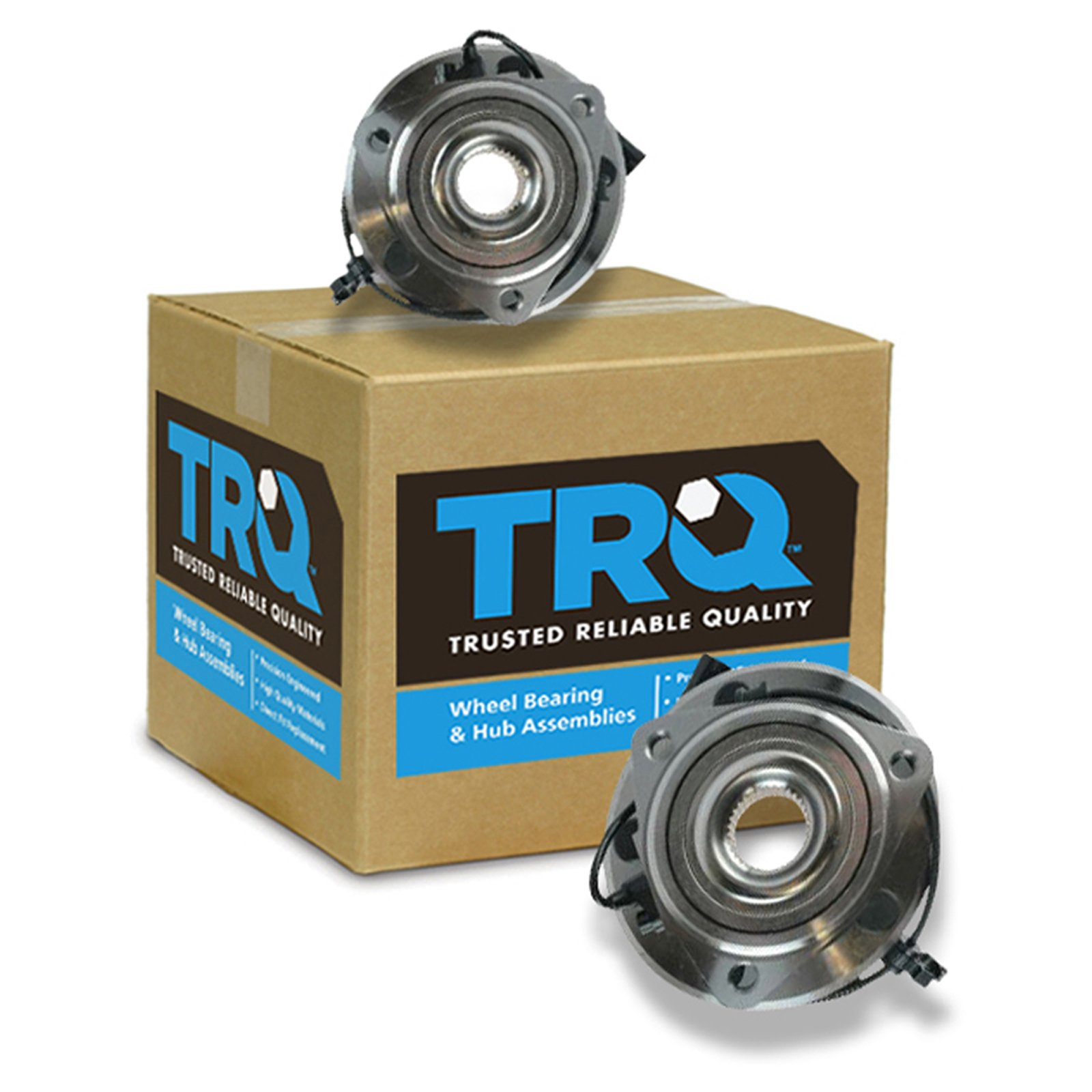 TRQ Wheel Bearing & Hub Assembly Pair Kit LH & RH Front for Jeep Wrangler by TRQ (Image #6)