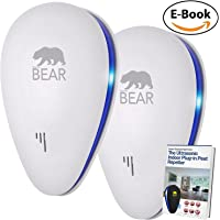 Ultrasonic Pest Repeller | UPGRADED DUAL 2018 PACK Fast Mouse and Rat Indoor Electronic Plug-In Control Insect Spider Repellent Mice with LED Night Light for Fleas Rodents Rats Flies Ants Cockroaches Mosquitoes Non-toxic Environment-friendly, Humans & Pets Safe (AU) White 2 Pack