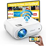 Cibest WiFi Projector Native 1080p, 7500L Movie Projector with High Contrast of 8000:1, Home Projector, Phone Projector, Comp