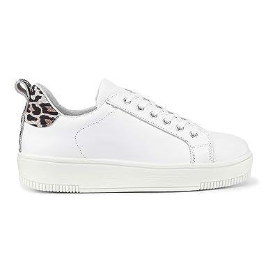 new product 643c3 cb9ca Cox Damen Damen Trend-Sneaker aus Leder, Plateau-Schnürer ...