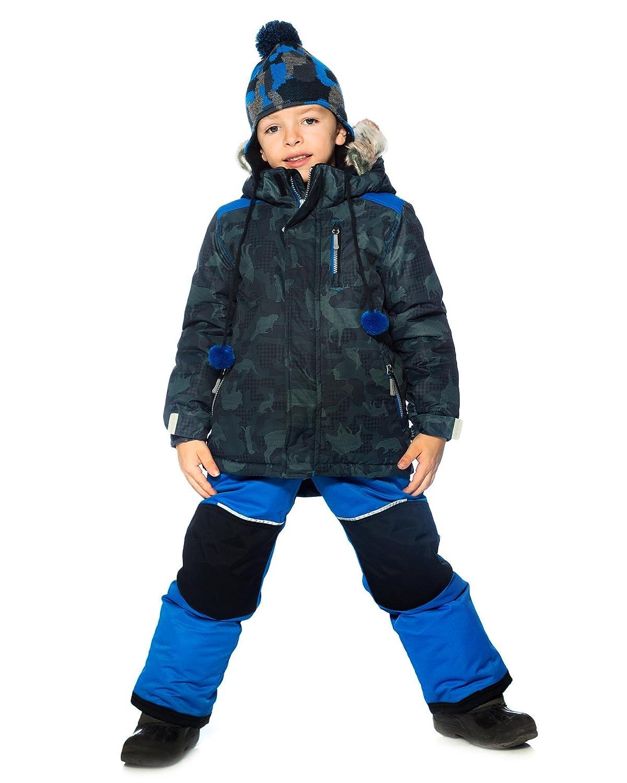 Sizes 3-14 Deux par Deux Boys 2-Piece Snowsuit Camo Animo Blue