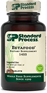 Standard Process Betafood - Digestive Health and Liver Support Supplement with Whole Food Blend of Oat Flour, Organic Beet Root, and Organic Beet Juice - 180 Tablets