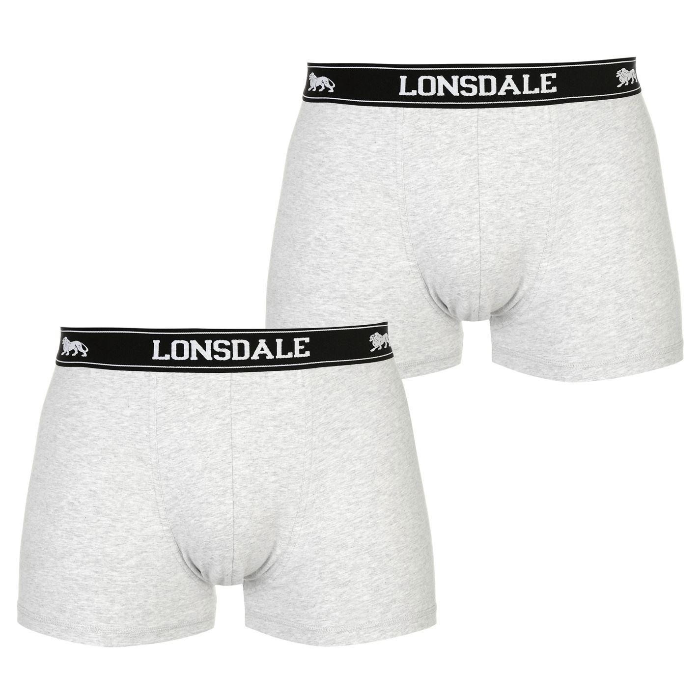 Lonsdale Hombre 2 Pares Hipsters Ba/ñador b/óxer Shorts Calzoncillos Ropa Interior Deportivo