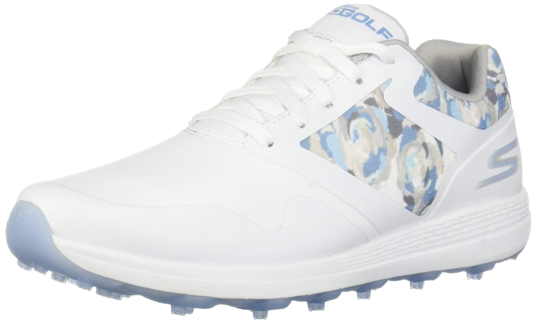 Skechers Women's Max Golf Shoe, White/Blue, 5.5 M US