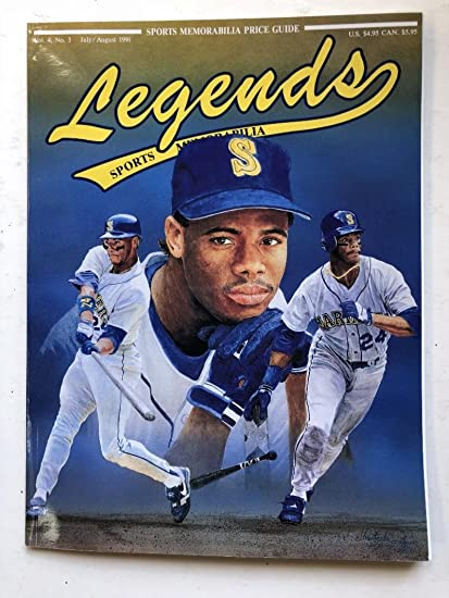 1991 Legends Magazine Ken Griffey Jr Cover Price Guide Vol 4 No 3