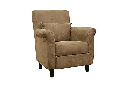 Exceptionnel Baxton Studio Marquis Tan Microfiber Club Chair