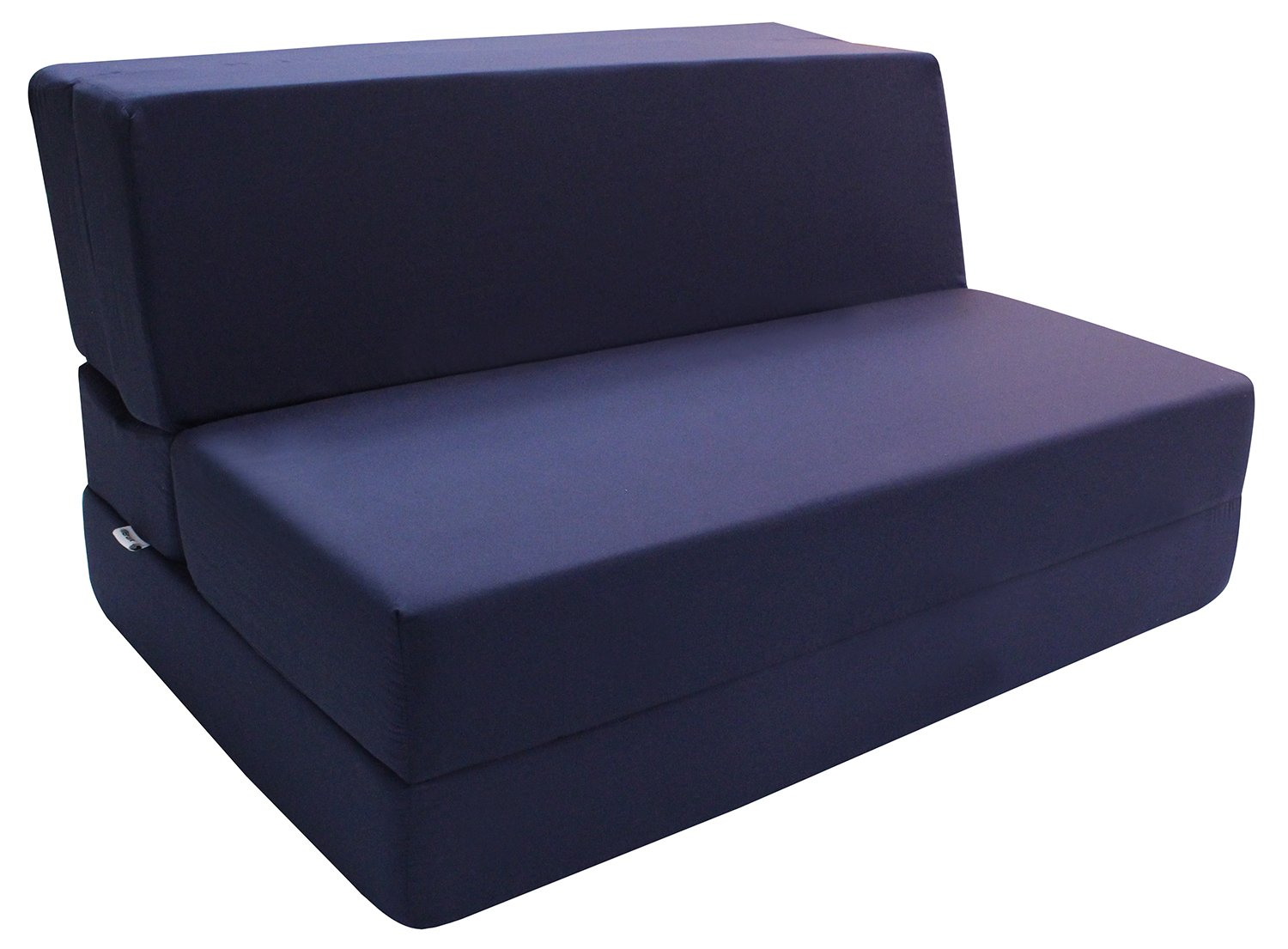 Merax Convertible 5-Folding Foam Sleeping Mattress Sofa Bed and Floor Mat, 74inx39inx5in, Navy Blue