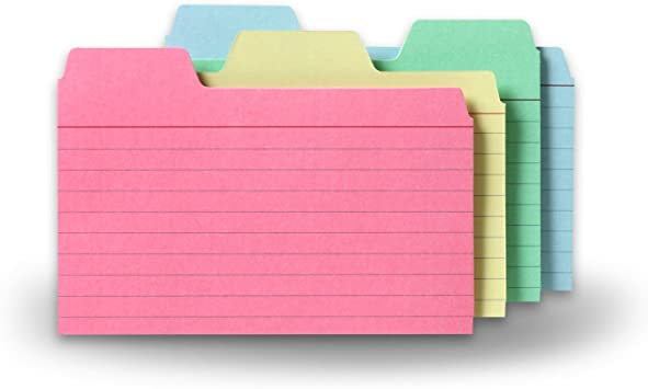 Amazon.com: Find-It Tabbed Index Cards, 3 X 5 Inches, Assorted