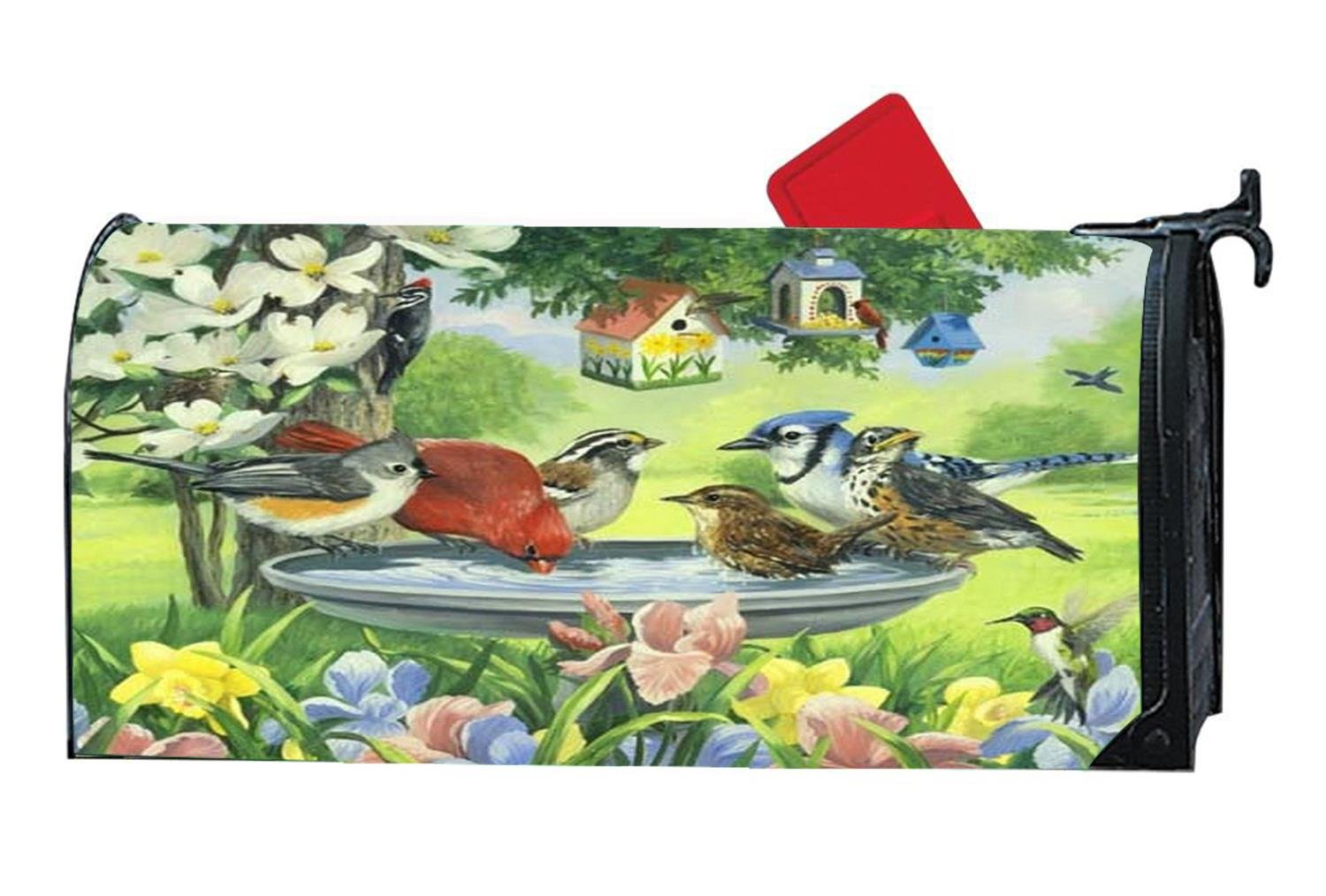 Diymbcovers Personalized Magnetic Mailbox Cover For Standard Sized Mailboxes Spring Flowers And Birds Mailboxes Accessories Bonsaipaisajismo Hardware