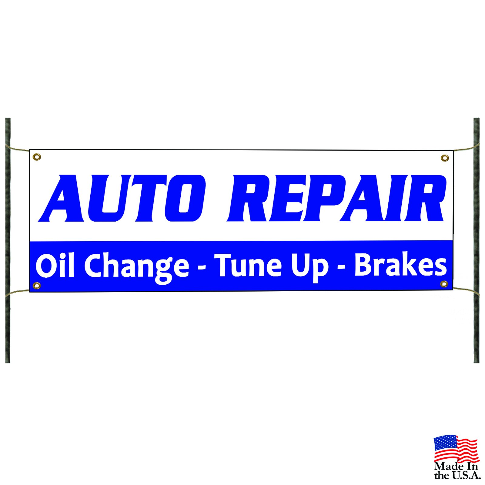 Auto Repair Oil Change Tune Up Brakes Promotion Advertising Vinyl Banner Sign by Afterprints