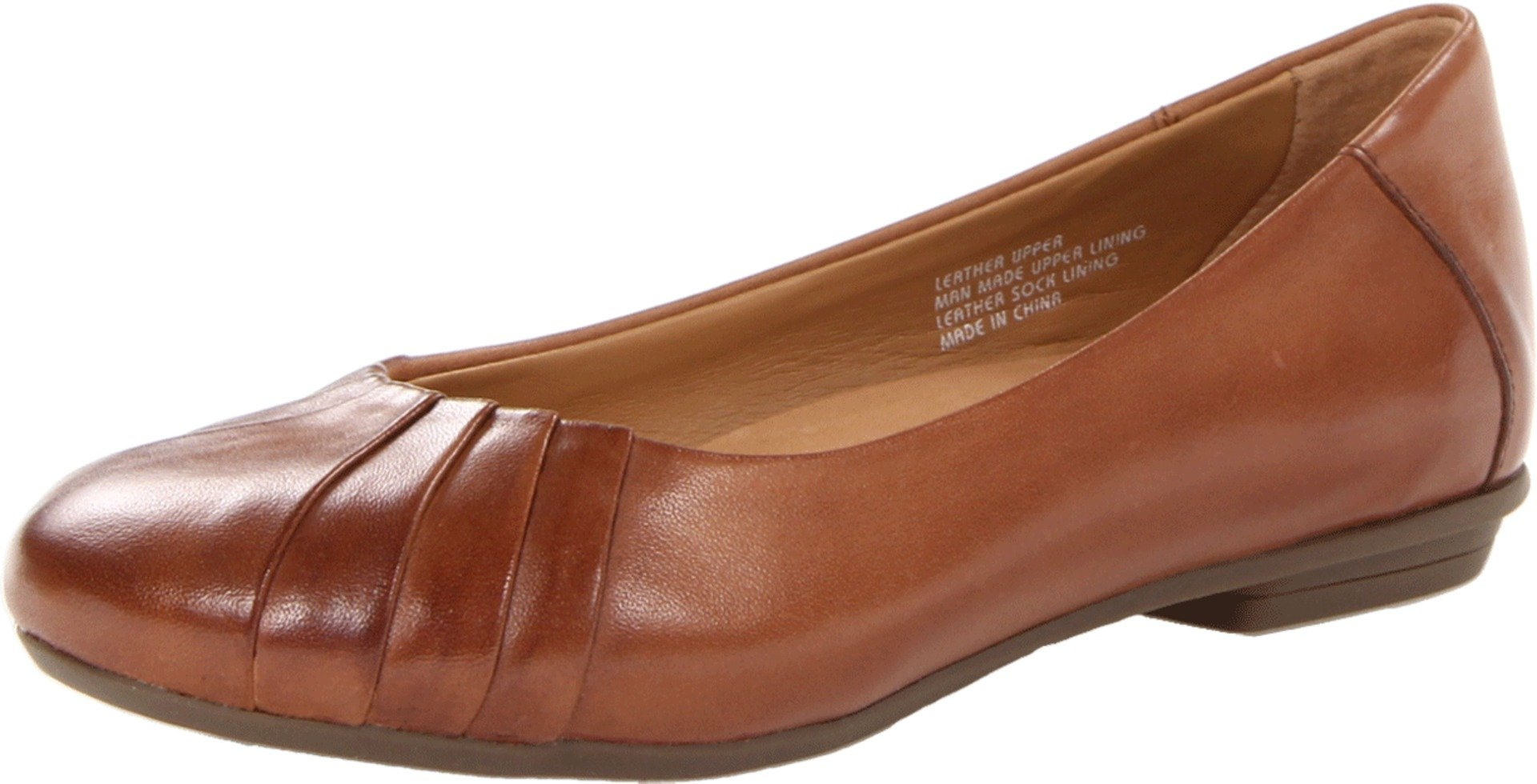Earth Women's Bellwether Ballet Flat,Almond Calf Leather,6 W US