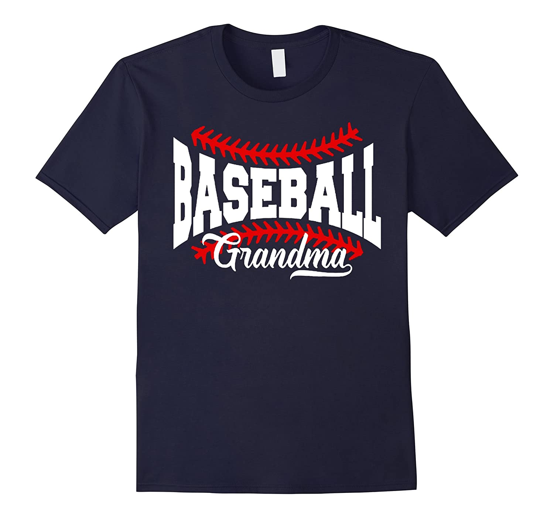 Baseball Grandma Distressed Ball T-Shirt Grandma Love Tee-CD