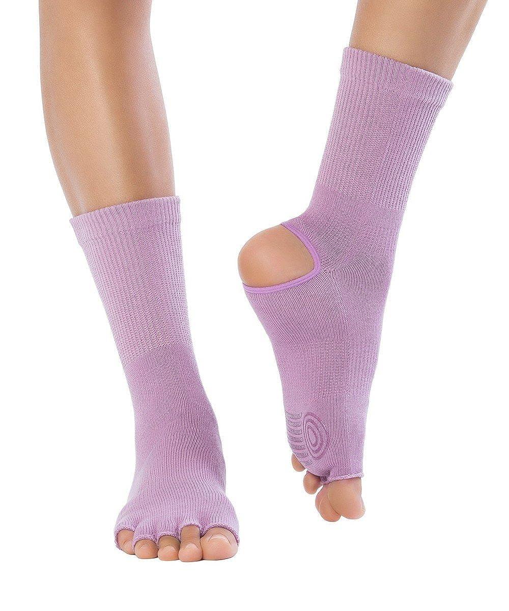 KNITIDO Yoga Flow Chaussettes /à orteils avec talon ouvert pour yoga pilates et danse