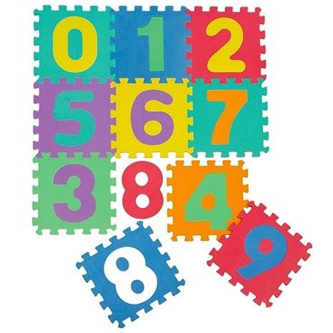 KRAFTZ® - 10 números multicolores de goma EVA para niños -