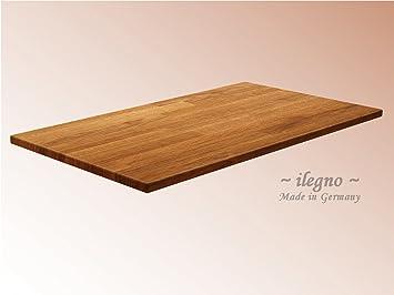 Top ilegno ~ Tischplatte Massivholzplatte Eiche massiv, 80 x 80 cm, 40  RV45