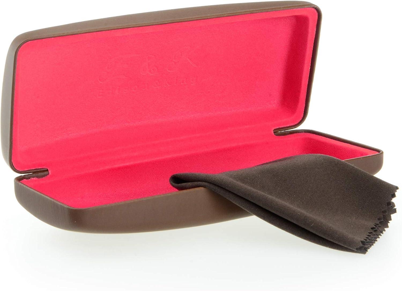 Edison & King Resistente Estuche para Gafas en Muchos Colores. También apropiado como Estuche para Gafas de Sol. Incluye paño para Limpieza de Gafas Gratis (marrón/Pink): Amazon.es: Deportes y aire libre