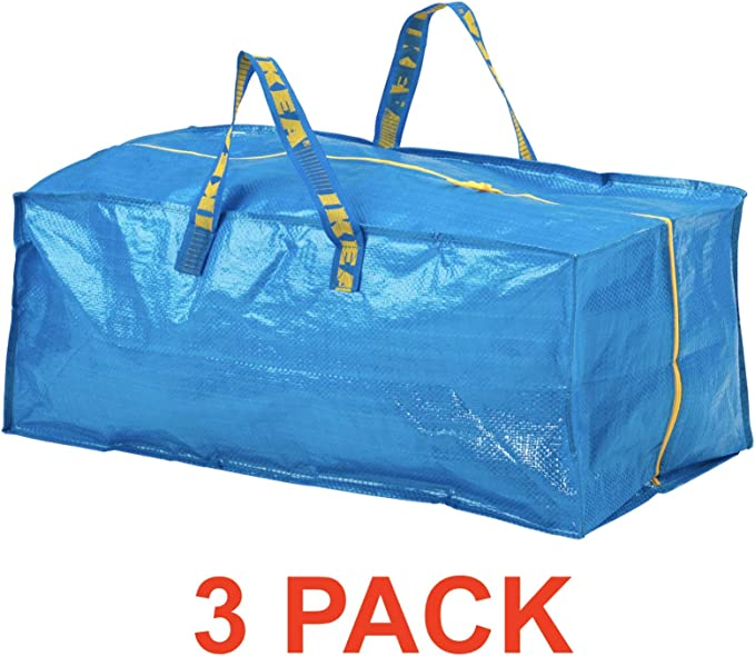 Ikea Frakta Storage Bag, Extra Large - Blue Blue B00OS47EDK: Buy Online at Best Price in UAE - Amazon.ae