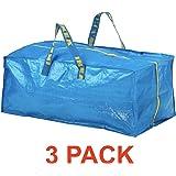 Ikea Frakta Storage Bag - Blue - SET OF 3