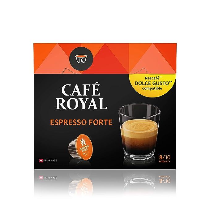 Café Royal Espresso Forte 48 cápsulas compatibles con Nescafé (R ...