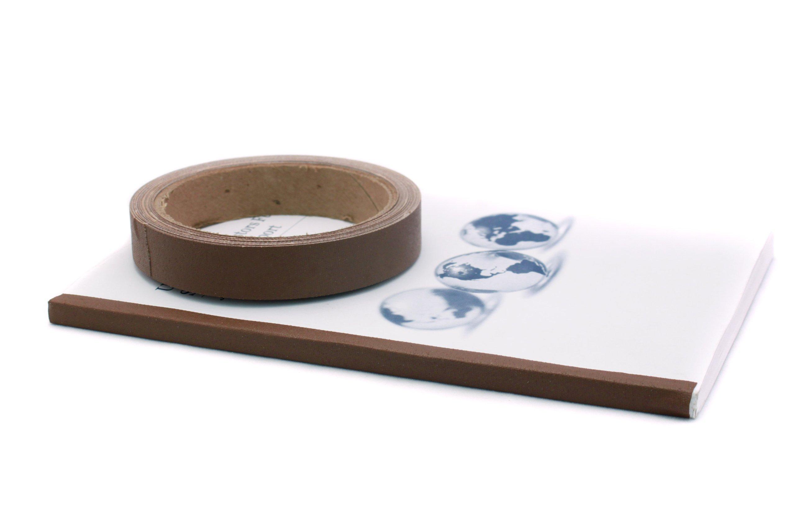 3/4'' Black Colored Premium-Cloth Book Binding Repair Tape | 15 Yard Roll (BookGuard Brand)