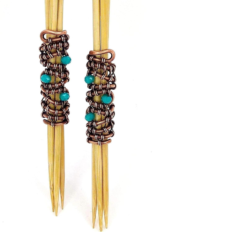 recycled Dreadlock beads bronze Blue Adjustable Dreadlock Accessory fits all Dread jewellery unisex