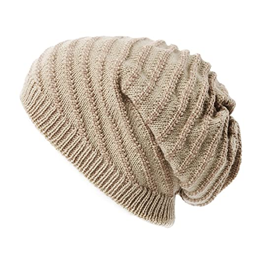 554457724ab SIGGI Unisex Mens Womens Slouchy Beanie Hats Winter Skull Beanies Thick  Beige