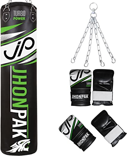 RDX Punching Bag Heavy Wrecking UNFILLLED With Bag Mitts Boxing Gloves Chains US