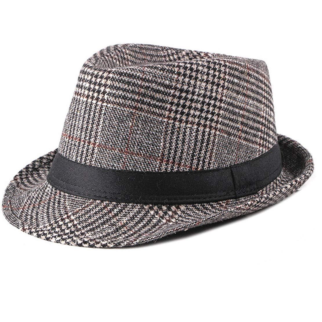 Classic Manhattan Trilby-Dress-Fedora-Hats for Men Woolen Felt Trilby Fedora Hat