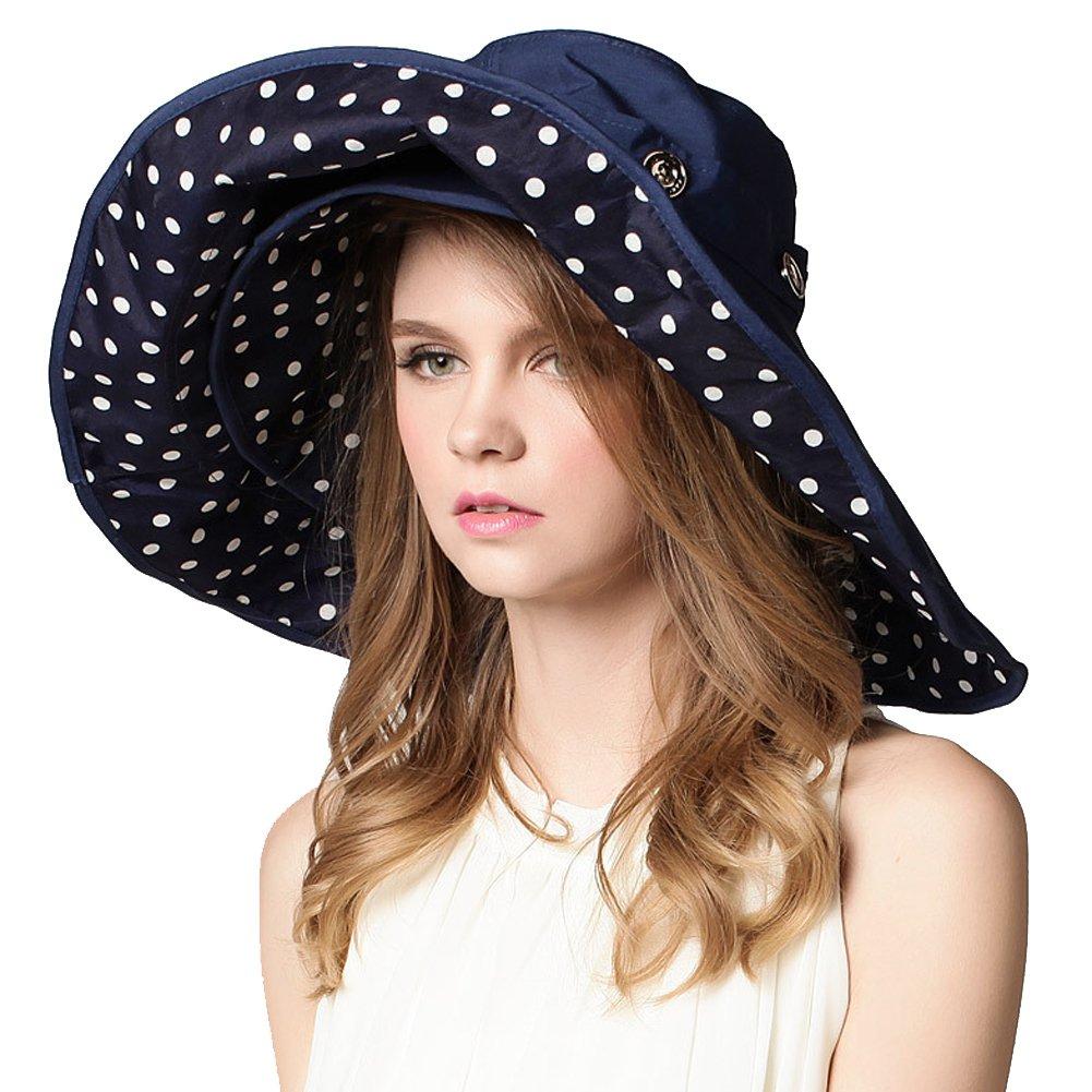 Urban CoCo Detachable Roll Summer Beach Sun Visor Wide Brim Hat Cap Bingo E-Commerce H-01-B