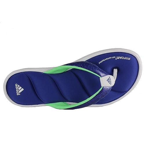 ab99d87d2834 Adidas Chilwyanda Glitter Flip-Flops - Run White Cobalt Green Zest (Women