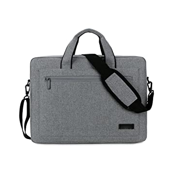 Jia Hu 1pc portátil maletín cartera hombro mensajero bolsa documento organizador para business College, color Dark Gary: Amazon.es: Oficina y papelería