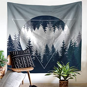Exceptional HANSHI Wandteppich Kakteengewächse Wald Mond Tropischer Wandteppich Schöne  Dekoration Für Ihr Zimmer 4 Verschiedene Farben Zu