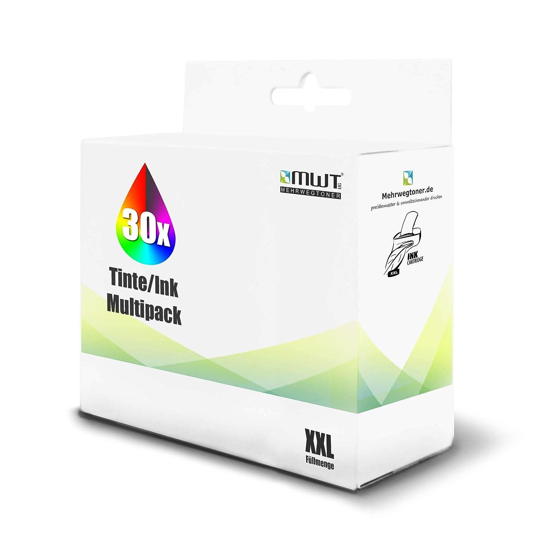 30x MWT Cartucho de Tinta para Epson Expression Home XP405 XP102 ...