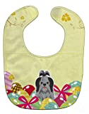 Caroline's Treasures BB6089BIB Easter Eggs Shih Tzu