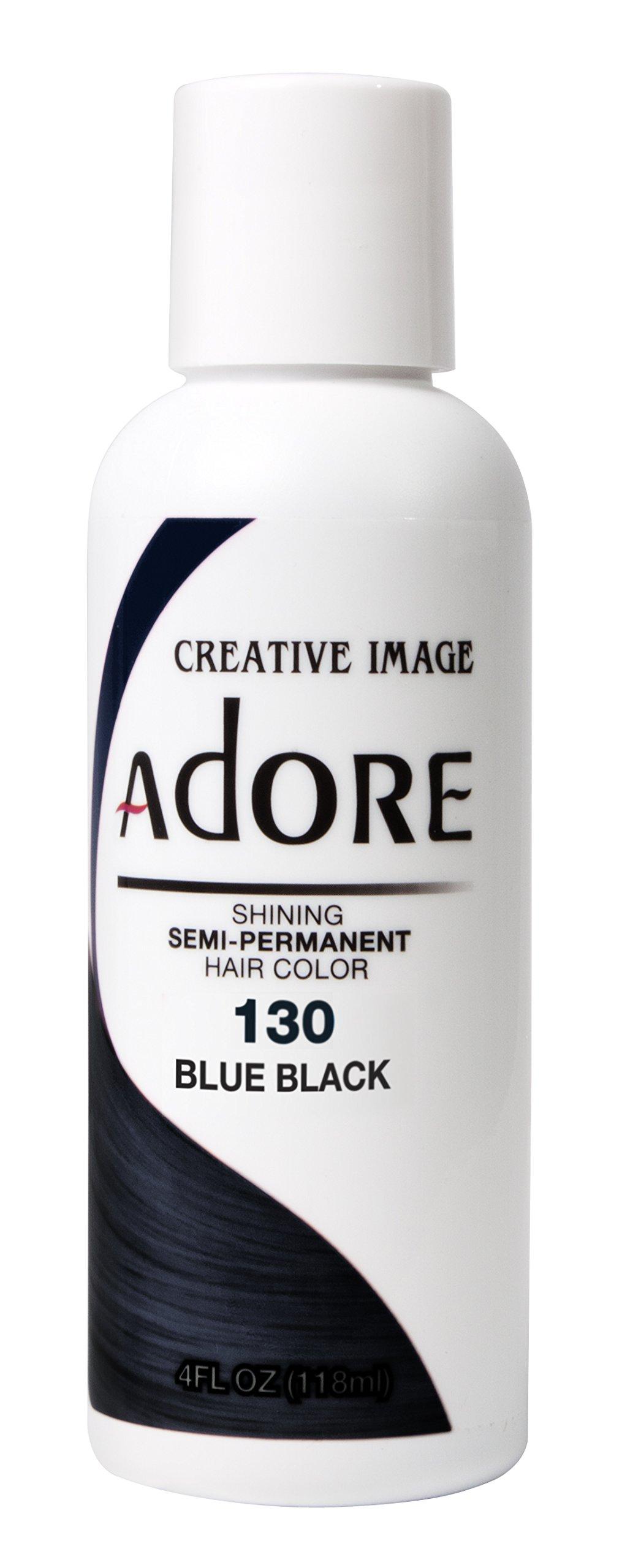 Adore Semi-Permanent Haircolor #130 Blue Black 4 Ounce (118ml)
