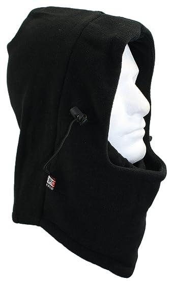 30fcdeb8738 Ted and Jack - Tactical Fleece Drawstring Ninja Hood Balaclava in Black
