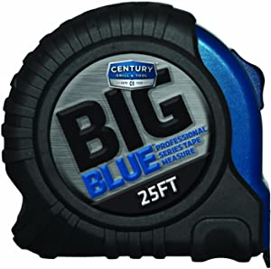 Century Drill & Tool 72825 Big Blue Tape Measure, 25-foot