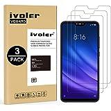 iVoler [3 Pack] Pellicola Vetro Temperato per Xiaomi Mi 8 Lite [Garanzia a Vita], Pellicola Protettiva Protezione per Schermo per Xiaomi Mi 8 Lite - Transparente