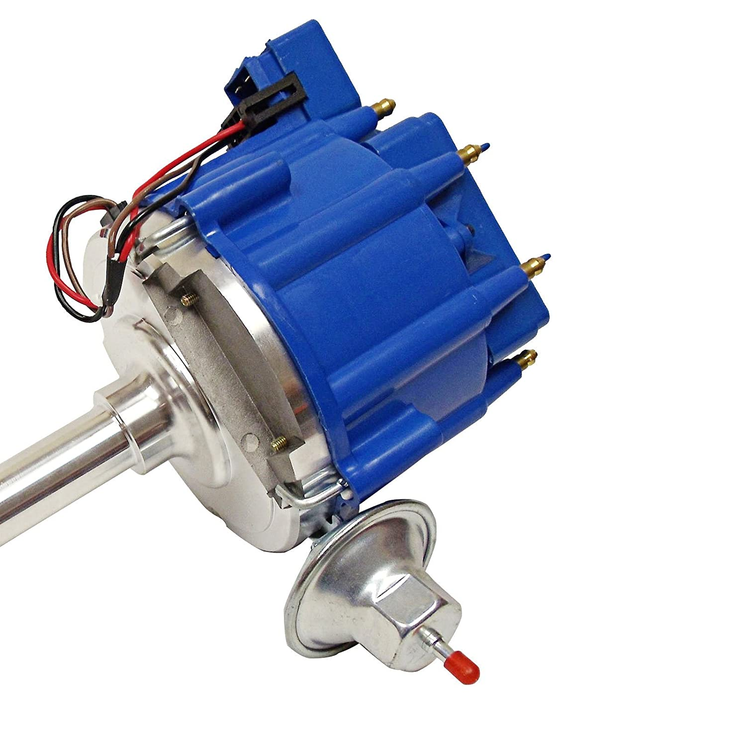 For Sbf Ford Small Block 260 289 302 Hei Ignition Blue Wiring Cap Distributor W 65k Coil Automotive