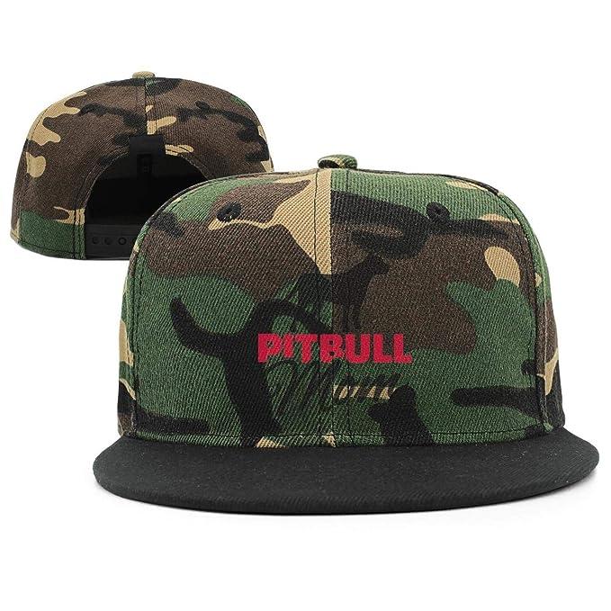 95fdf27bcfa Marinas Black Pitbull mom Sign camo Strapback Hat Adjustable Personalized  Caps