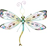 Large Metal Wall Hanging Art Garden Patio Dragonfly Indoor Outdoor Home  Decor