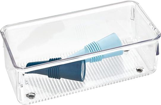 Idesign Range Couvert Petit Rangement Tiroir En Plastique Casier Rangement Plastique Compartimente Pour Les Tiroirs Transparent Amazon Fr Cuisine Maison