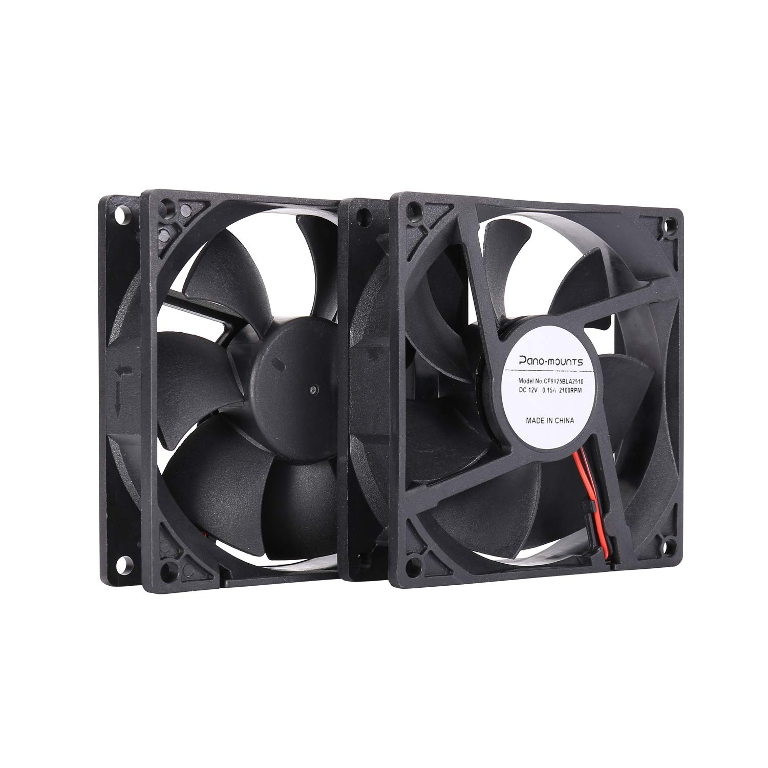 90mm 92mm Computer PC Case Fan 2 Wire 3pin 12V DC Cooling Fan with Extra 2Pin 4Pin Connectors 2000RPM 2-Pack