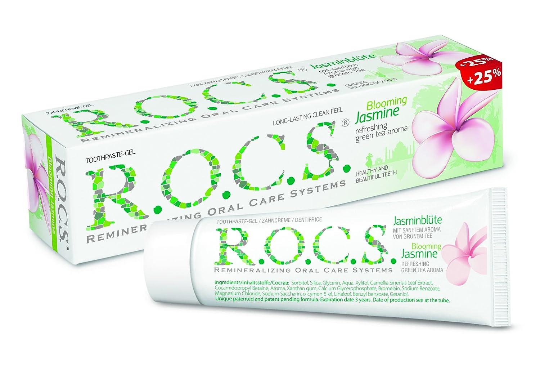 Pasta dentífrica R.O.C.S. Flor de Jazmín / ROCS - Aclara y abrillanta el esmalte dental, No contiene flúor ni antisépticos. Poco abrasiva: Amazon.es: Salud ...